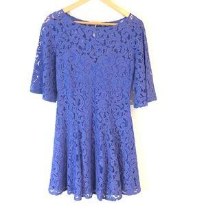 Free People Lace Floral Boho Dress Size 4